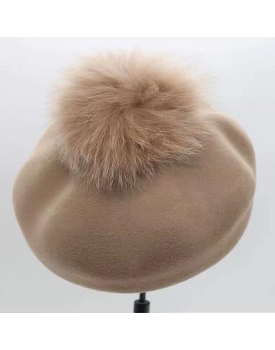 Béret laine avec pompon