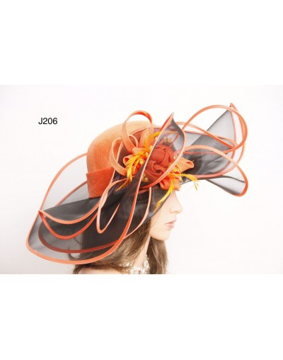 Grand chapeau orange/black