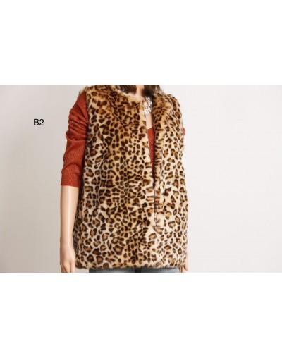 Veste leopard sans manche...