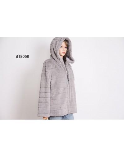 Manteau fausse fourrure légère