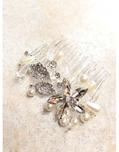 Peigne cheveux avec perles
