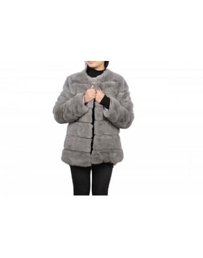 manteau fausse fourrure à...